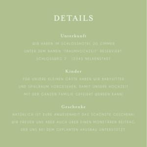 Beilegekarte Englischer garten grün