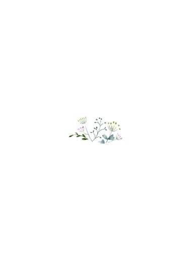 Beilegekarte Wildblumen rosa