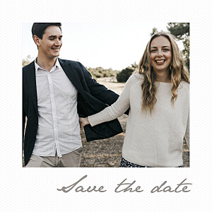 Save-the-Date Karte Kleines polaroid weiß