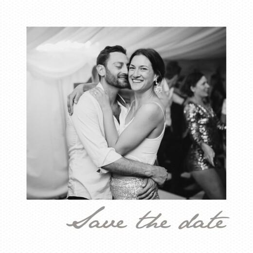 Save-the-Date Karten Kleines polaroid weiß