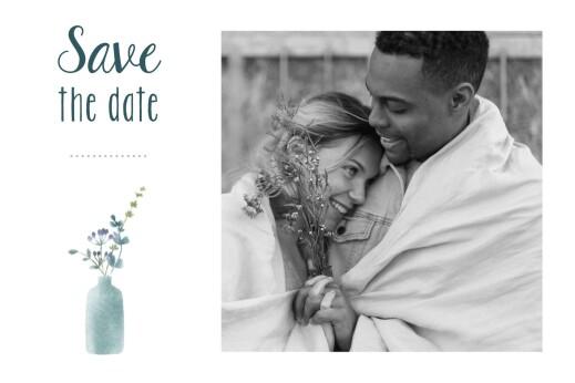 Save-the-Date Karten Wildblumen foto rosa