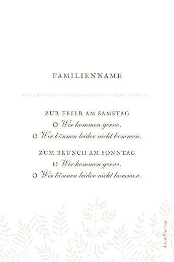 Antwortkarte Hochzeit Naturspiel beige - Seite 2