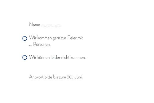 Antwortkarte Hochzeit Floralie blau - Seite 2