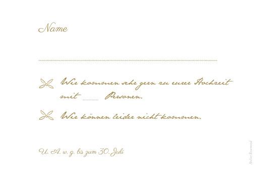 Antwortkarte Hochzeit Lyrik sand - Seite 2