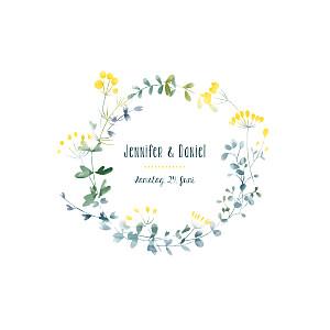 Hochzeitseinladung Wildblumen gelb