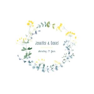 Hochzeitseinladungen Wildblumen gelb