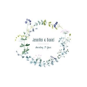 Hochzeitseinladungen violett wildblumen rosa