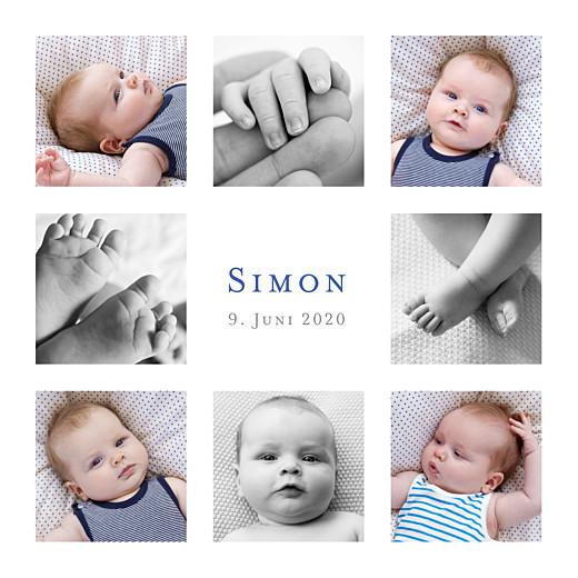 Geburtskarten Einfach 8 fotos weiß