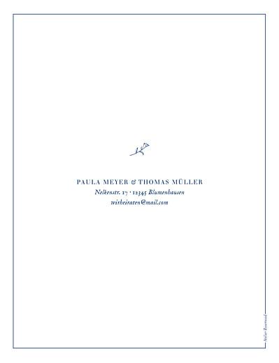 Hochzeitseinladungen Naturnah (hoch) blue - Seite 2