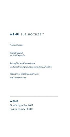 Menükarte Laure de sagazan (gold) weiß - Seite 3