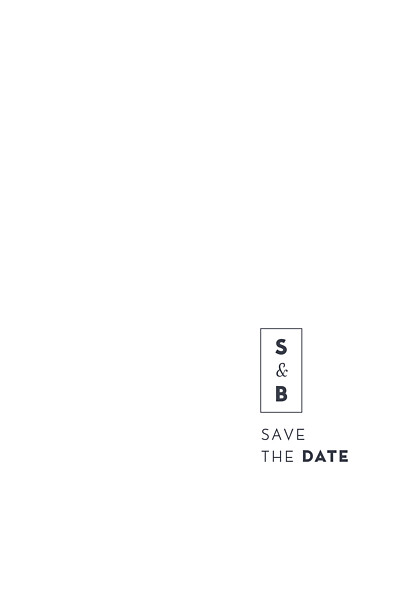 Save-the-Date Karten Laure de sagazan (gold) weiß finition