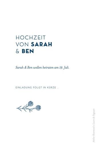 Save-the-Date Karten Laure de sagazan (gold) weiß - Seite 2