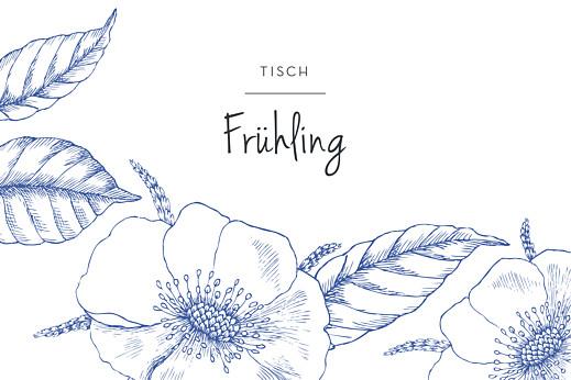 Tischkarten Hochzeit Floralie blau