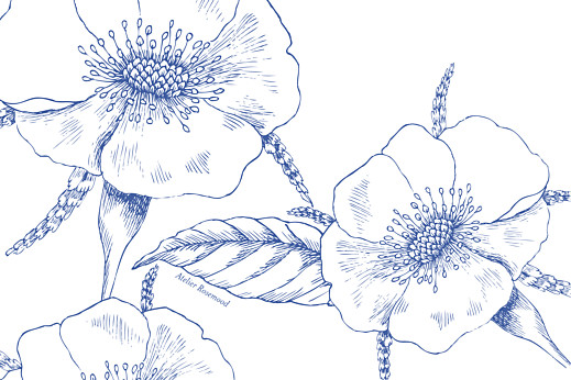 Tischkarten Hochzeit Floralie blau - Seite 2