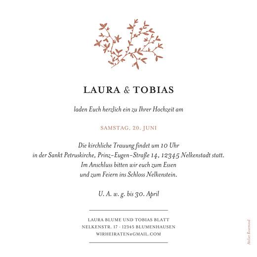 Hochzeitseinladung Zarte poesie (gold) rot