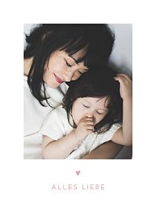 Poster klein mit foto elegant herz rosa
