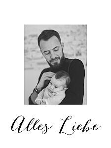 Poster klein mit foto little big love weiß