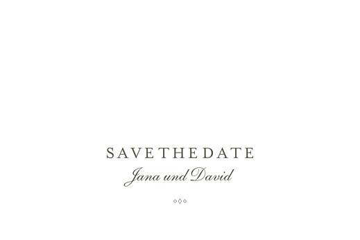 Save-the-Date Karten Lichterregen (gold) weiß
