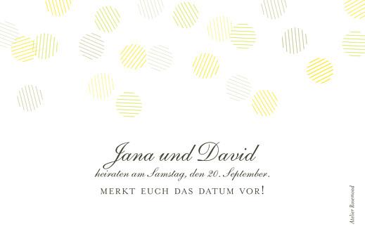 Save-the-Date Karten Lichterregen (gold) weiß - Seite 2