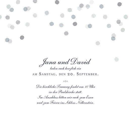 Hochzeitseinladung Lichterregen (gold) tintenblau