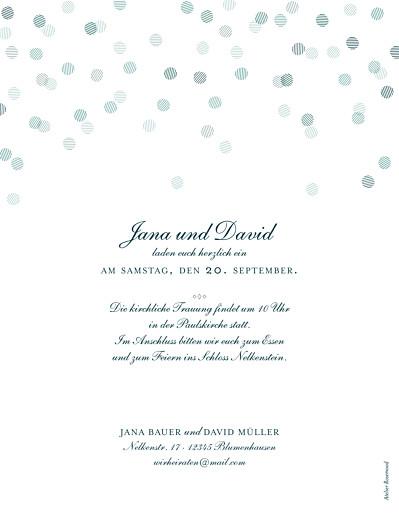 Hochzeitseinladungen Lichterregen hoch (gold) grün - Seite 2
