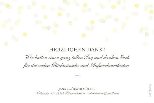 Dankeskarten Hochzeit Lichterregen (gold) weiß
