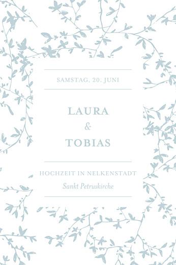 Tischkarten Hochzeit Zarte poesie grün