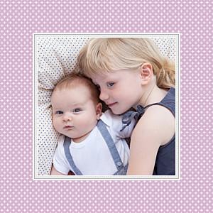 Geburtskarten violett chic lavendel