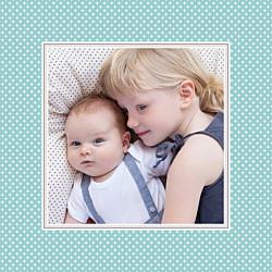 Geburtskarten braun chic türkis