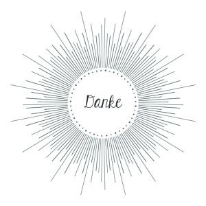 Mini dankeskarten taufe leuchtend weiß