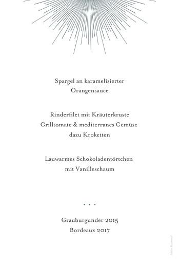 Menükarten Taufe Leuchtend weiß - Seite 2