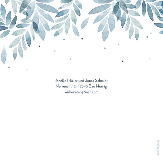 Hochzeitseinladung Sommernacht (gold) blau