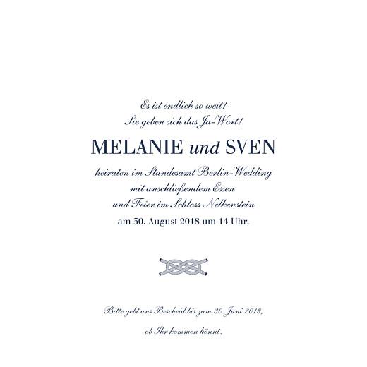 Hochzeitseinladungen Anker Blau   Seite 3