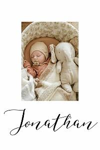 Geburtskarten mädchen oder junge little big one 2 fotos weiß