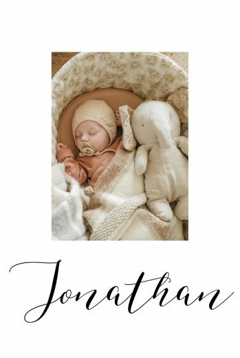 Geburtskarten Little big one 2 fotos weiß