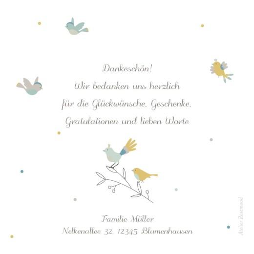 Dankeskarten Bunte vögel grün - Seite 2