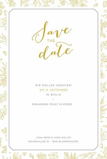 Save-the-Date Karte Feine blätter gelb - Seite 2