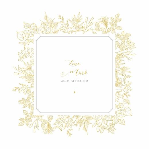 Hochzeitseinladungen Feine blätter gelb