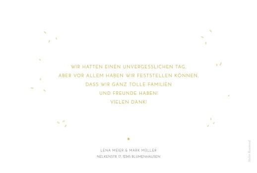 Dankeskarten Hochzeit Feine blätter gelb - Seite 2