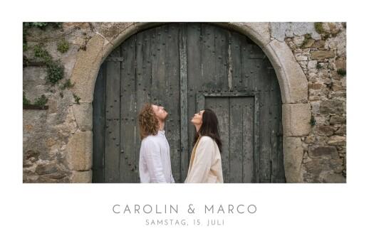Hochzeitseinladungen Elegant foto lang weiß