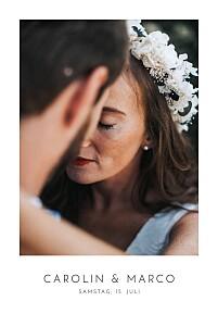Hochzeitseinladungen grau elegant foto hoch weiß