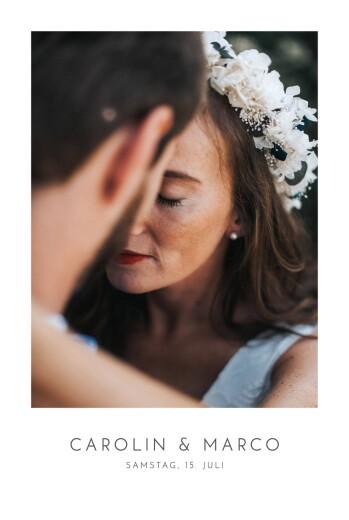 Hochzeitseinladungen Elegant foto hoch weiß
