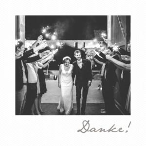 Dankeskarten Hochzeit Polaroid mini weiß
