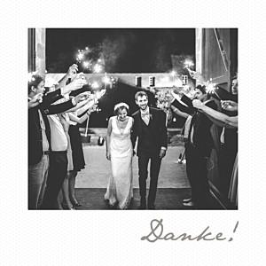 Dankeskarten hochzeit mit foto polaroid mini weiß