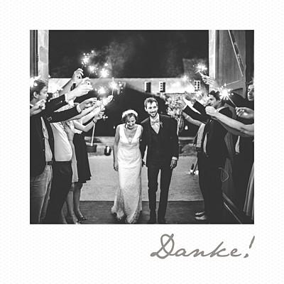 Dankeskarten Hochzeit Polaroid mini weiß finition