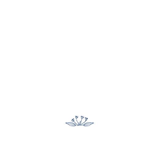 Antwortkarte Hochzeit Naturnah (quadratisch) blau