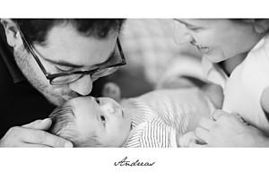 Geburtskarten grau band 1 foto lang weiß