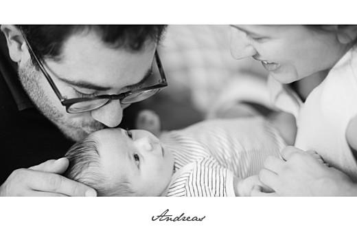 Geburtskarten Band 1 foto lang weiß