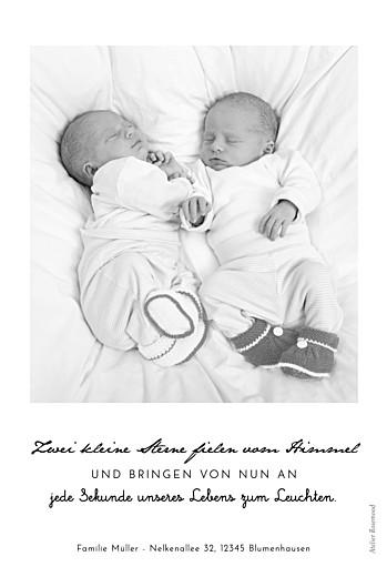 Geburtskarten Original 2 fotos zwillinge weiß - Seite 2