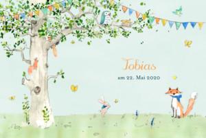 Geburtskarten Frühlingserwachen zartblau